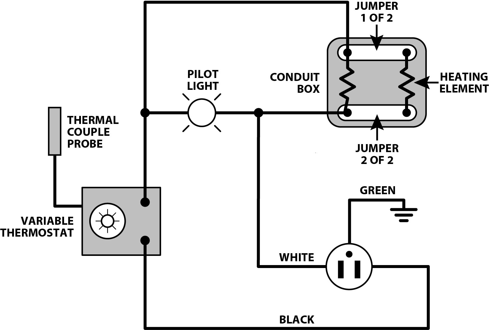wiring diagram for a 120 volt thermostat