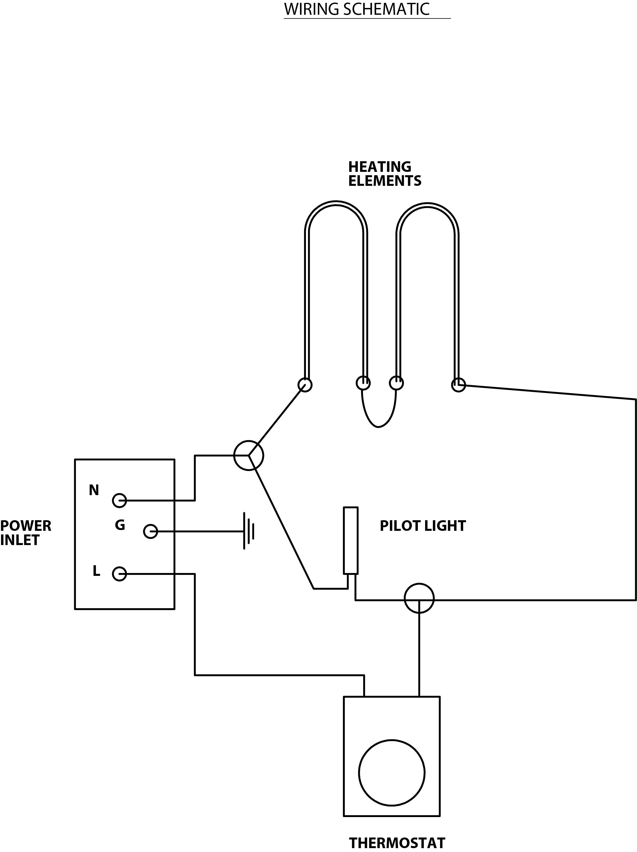 Similiar Heating Element And Thermostat Diagram Keywords Single Wiring